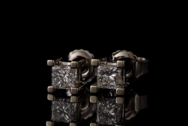 oorknoppen princess diamant